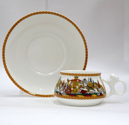 Чашка с блюдцем Войско Дадона, ф. Билибина ИФЗ 81.23968.00.1