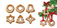 Формочки Рождественские украшения, 6шт, 2 ленты Tescoma DELICIA 630916