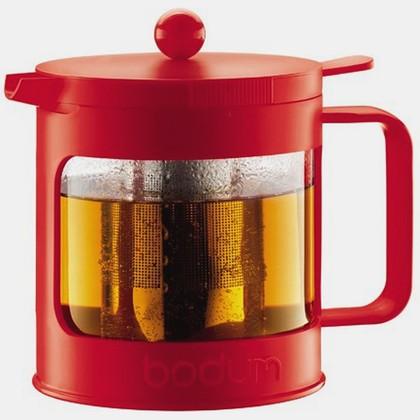 Bodum BEAN Чайник заварочный с прессом, красный, 1л, артикул 11380-294