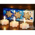 "Bartek Candles CHRISTMAS STAR Свеча ""Звезда со снежинкой"" - вариант А, 60х25мм, 3 шт. , артикул 5907602669534"