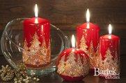 """Свеча """"Ёлочка нарядная"""" шар 6см Bartek Candles 5907602673937"""