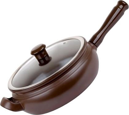 Ceraflame TERRINE Сковорода-гриль, керамика, цвет - шоколад, стеклянная крышка, диаметр 22см, 2л, артикул F275545