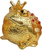 Копилка Царевна Лягушка Золотая с красными камнями Pomme-Pidou 148-00210/2