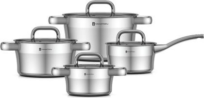Набор посуды из нержавеющей стали, 8 предметов Yamateru HOSHI YHOSET8