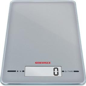 Весы кухонные электронные серебристые 5кг/1гр Soehnle Page Evolution Silver 66179