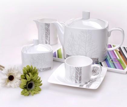 """Сервиз чайный """"Каррэ"""", 6 персон, 15 предм. Top Art Studio LD0240-TA"""