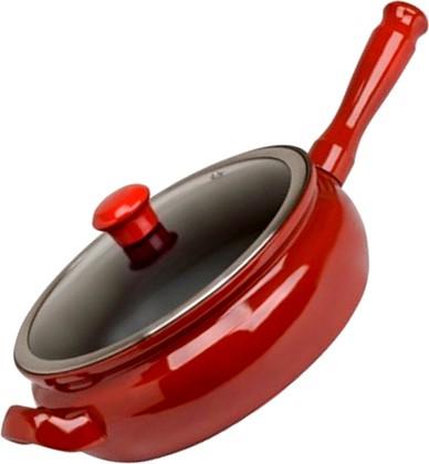 Ceraflame TERRINE Керамическая сковорода-гриль, красная, стеклянная крышка, диаметр 22см, 2л, артикул F27516422