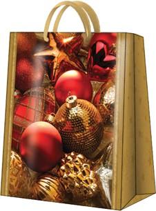 """Пакет подарочный """"Новогодние игрушки"""" 20x25x10см Paw AGB020203"""