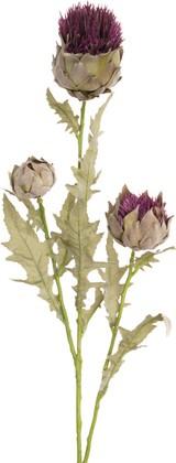 """Цветок искусственный """"Чертополох"""" 3 головки, 81см Floralsilk 11754LV"""