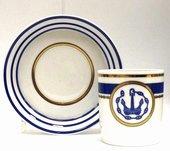 Чашка чайная с блюдцем Кают-компания №1, ф. Гербовая ИФЗ 81.21404.00.1