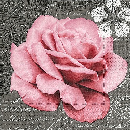 Салфетки для декупажа Роза любви, 33x33см, 3 слоя, 20шт Paper+Design 21780