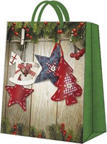 """Пакет подарочный """"Новогодние звездочки"""" 20x25x10см Paw AGB030503"""