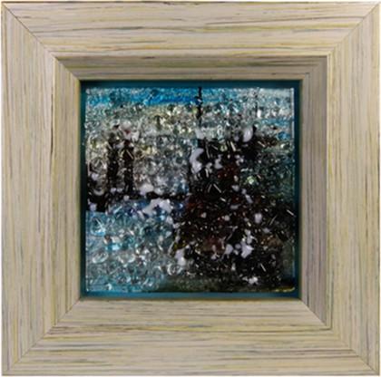 Картина стеклянная Мегаполис 32x32см Top Art Studio LG1243-TA