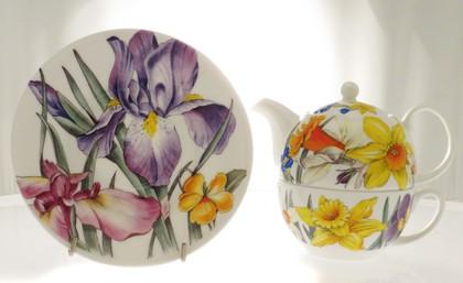Чайник на одного Весенние цветы Roy Kirkham XSPR1201