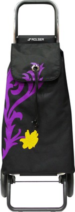 Сумка-тележка хозяйственная фиолетово-чёрная Rolser LOGIC RG PAC067malva