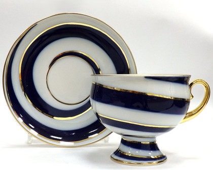 Чашка с блюдцем Серпантин, ф. Классическая ИФЗ 81.14776.00.1
