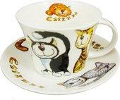 "Чайная пара для завтрака ""Кошки-с"" 500мл Roy Kirkham XCATZ1110"