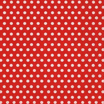 Салфетки для декупажа Красный горох, 33x33см, 3 слоя, 20шт Paper+Design LN0465