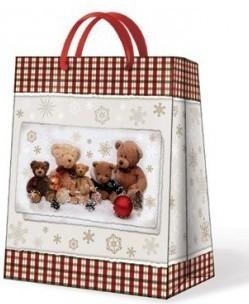 """Пакет подарочный """"Семейство Мишек"""" 20х10х25см Paw AGB021303"""