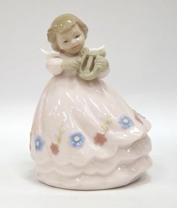 Статуэтка ангела Гармония с арфой, 13см The Leonardo Collection LP04368B