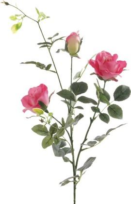 """Цветок искусственный Роза кустовая """"Даниэлла"""" вино 86см Floralsilk 11581BE"""