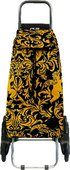Сумка-тележка хозяйственная чёрная с золотом Rolser RD6 MOUNTAIN MOU113oro/negro