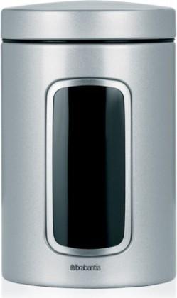 Контейнер стальной с окном 1.4л, серый металлик Brabantia 243509