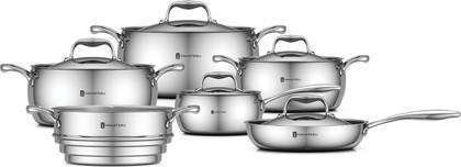 Набор посуды из нержавеющей стали, 11 предметов Yamateru HARU 4991009