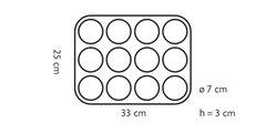 Форма на 12 маффинов 7см, 25х33х3см Tescoma DELICIA Silicone 629350