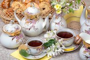 Сервиз чайный 6/15 Праздничный, ф. Голубая роза Дулёвский фарфор ДС1656