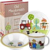 Набор для завтрака Ферма старого Макдоналда 3пр., меламин Queens OLDM00131