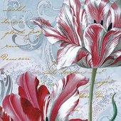 Салфетки Величественные тюльпаны, 33x33, 20шт Paw SDL083900