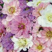 Салфетки для декупажа Садовые цветы, 33x33см, 3 слоя, 20шт Paper+Design 21720