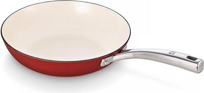 Сковорода чугунная с антипригарным покрытием 24см, красная Beka AROME 16307244