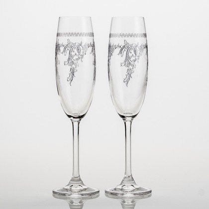Фужеры для шампанского Набор XXL 220мл, 2 шт Crystalite Bohemia 4S032/220/280525х2