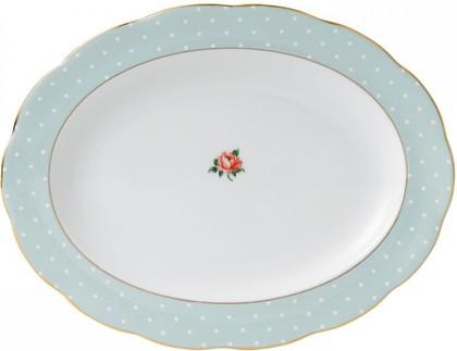 Блюдо овальное Полька Роуз, 33см Royal Albert POLROS25818