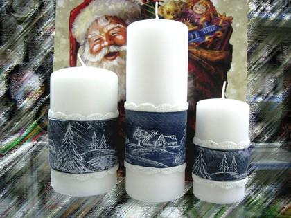"""Свеча """"Снежная"""" колонна 6х11.5см Bartek Candles 307012"""