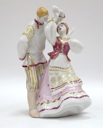 Скульптура Кадриль, Дулёвский фарфор ДС817
