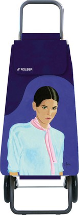 Сумка-тележка хозяйственная фиолетовая с рисунком Rolser LOGIC RG PAC092more/carla