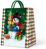 """Пакет подарочный """"Снеговик"""", 26.3x33x13.5см Paw AGB017105"""