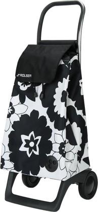 Сумка-тележка хозяйственная компактная бело-чёрная Rolser JOY-1800 BABY BAB002blanco/negro