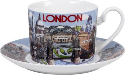 """Чайная пара """"Лондон"""" 200мл, Princess James Sadler JSHL00031"""