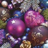 Салфетки для декупажа Фиолетовая композиция 33x33см, 3 слоя, 20шт Paw SDL080700