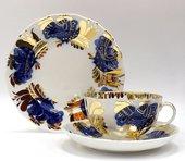 Набор чайный 3 предмета Золотой сад, ф. Тюльпан ИФЗ 81.10004.00.1