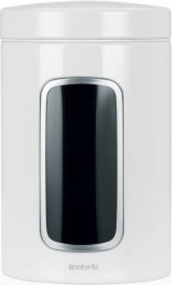 Контейнер с окном 1.4л, стальной белый Brabantia 491009