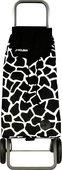 Сумка-тележка хозяйственная чёрно-белая Rolser LOGIC RG PAC025blanco