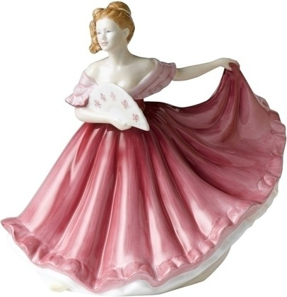 Статуэтка Элайн (розовая) 17см, фарфор Royal Doulton PEFISC19422