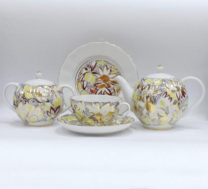 Сервиз чайный 6/20 Золотые ромашки, ф. Тюльпан ИФЗ 81.21772.00.1