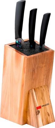 Набор из 3 ножей с керамическими лезвиями и универсальной деревянной подставкой Mikadzo IMARI-BL IKB-BL-ST-SET3-PL