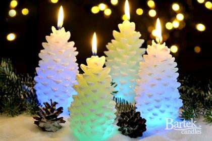 "Свеча с подсветкой ""Шишка"", 7х13см Bartek Candles 190112"